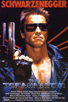 The Terminator - Some of Schwarzenegger's best work... back when he focused on action w/o big speaking roles. #terminator #movie #poster