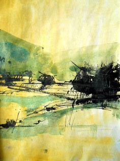"Saatchi Art Artist Marko Milovic; Drawing, ""Sunrise"" #art"