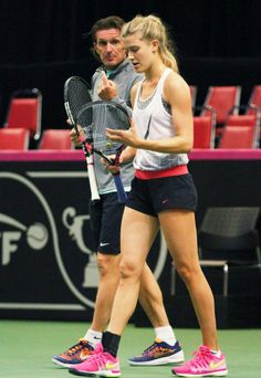 EUGENIE BOUCHARD FED CUP 2015 Eugene Bouchard, Tennis Clothes, Tennis Outfits, Fed Cup, Pro Tennis, Star Wars, Tennis Players Female, Sports Celebrities, Tennis Stars