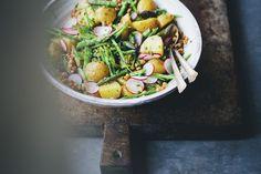 Spring Celebration Salad (asparagus, potatoes, radishes, butter vinaigrette)