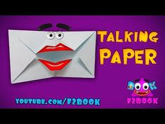 Talking Mouth Paper Folding - Origami Instructions - F2BOOK - YouTube