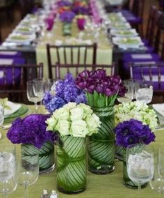 Putting a leaf inside the #vase not only hide the #floral stems but also a #nice decoration Great for a corporate event
