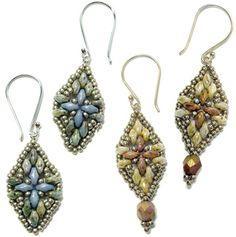 Harmony Beaded Earrings Pattern at Sova-Enterprises.com