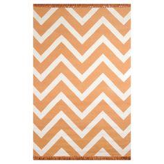 Tuft & Loom Indoor/Outdoor Chevron Area Rug - Marigold/Cream (Marigold/Ivory) (5'x7'-6)