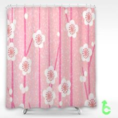 Cheap Solor flowers roses pink leaves Shower Curtain