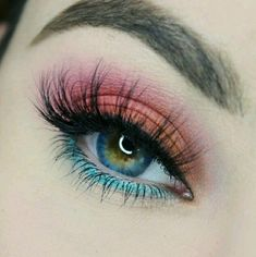 gorgeous eye makeup trends you should try - Makeup Without Eye Makeup, Makeup Eye Looks, Beautiful Eye Makeup, Blue Eye Makeup, Eyeshadow Makeup, Pink Makeup, Pastel Eyeshadow, Elegant Makeup, Basic Makeup