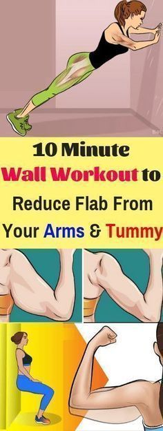 10 Minute Wall Workout to Reduce Flab From Your Arms and Tummy – weight smart
