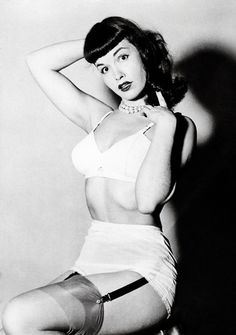 Bettie Page the Queen of Pinup Pin Up Noire, Bettie Page Photos, Irving Klaw, Pin Up Photos, Pin Up Style, Vintage Lingerie, Girl Next Door, Vintage Hairstyles, Vintage Beauty