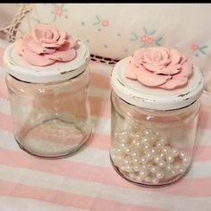 Shabby Chic Craft Ideas | Craft Ideas / Shabby chic containers for my future craft room