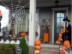 50 Chilling and Thrilling Halloween Porch Decorations Halloween