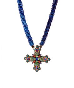 Look what I found on #zulily! F.A.I.T.H. Lapis Cross Pendant Necklace by F.A.I.T.H. #zulilyfinds
