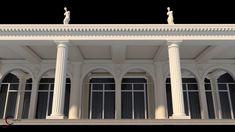 Statui terasa coloane romane Venus, Palace, Garage Doors, Exterior, Outdoor Decor, Design, Home Decor, Decoration Home, Room Decor