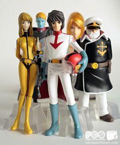 Star Blazers Captain Avatar | ... Cruiser Yamato (Star Blazers) Capsule (Gashapon) Figures from Bandai