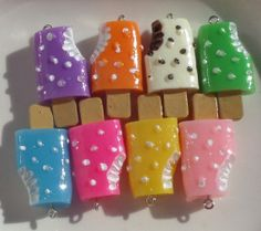 Chunky 38mm Resin Ice Cream Pendants Assorted by SofiasCottage, $3.00