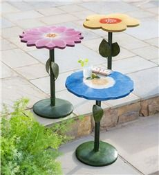 Morning Glory Metal Side Table