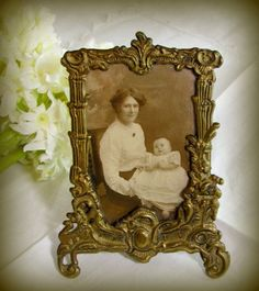 2 Edwardian Oak Picture Frames In Very Good Condition High Resilience 27x 23 Cm