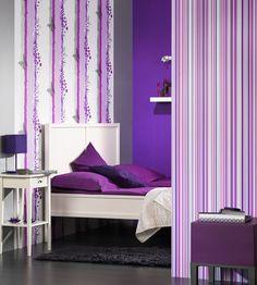 tapety na stenu - Hľadať Googlom Retro Wallpaper, Red Interiors, White Roses, Pink Purple, Stencil, Toddler Bed, Fancy, Furniture, Home Decor