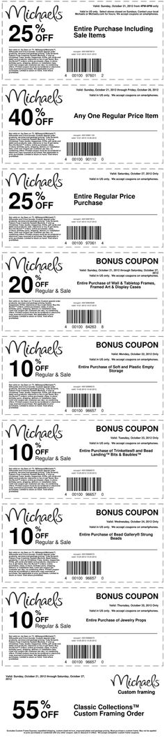 40% off a single item and more at Michaels crafts coupon via The Coupons App
