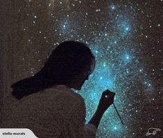 Glow in the Dark STAR CEILING ART - Stella Murals | Trade Me