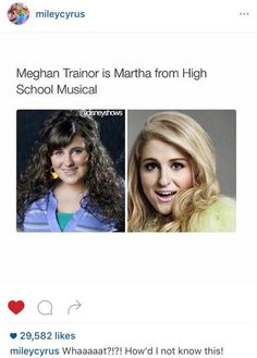 "Miley Cyrus Confused Meghan Trainor With Martha From ""High School Musical"""