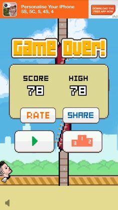 Taking the lead on Flappy Bird knock off - Fall Out Bird.