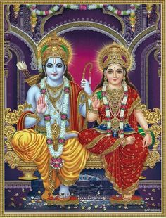 Lord Rama is the seventh avatar of Lord Vishnu and one of the main deities in Hinduism, Here is a collection of Lord Rama images with Sita & HD wallpapers. Durga Ji, Shri Hanuman, Shri Ganesh, Hanuman Images, Lakshmi Images, Durga Images, Shiva Hindu, Hindu Deities, Shri Ram Wallpaper