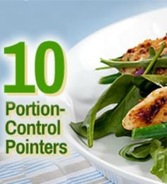 Get your portions under control with these 10 easy tips! | via @SparkPeople #food #diet #nutrition #weight