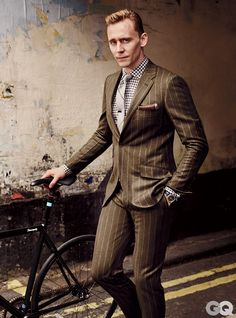 THIS! Again, the pinstripes work cause of the colour and texture of the suit