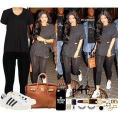 A fashion look from August 2015 featuring adidas Originals sneakers, Hermès handbags i Apt. 9 rings. Browse and shop related looks.