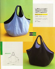 Bolso Reversible Instruc Patron- download free pattern- no idea what language it is in- but overall good drawing to work through