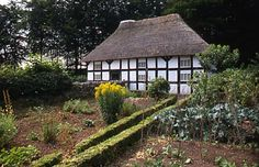 Exterior view of Abernodwydd Farmhouse, St. Fagans, Wales