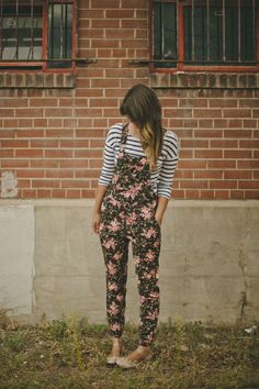 obsessed: floral overalls - Deer Circus