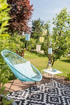 DIY Windlichter Laternen aus Papier als Deko für den Balkon oder Garten im Sommer und für die Gartenparty