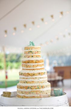 10 Confetti Throwing Cakes    including this design by Russel Morin Catering   on TheCakeBlog.com