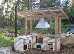 Karjalohja Kitchen Grill, Backyard Kitchen, Summer Kitchen, Backyard Patio, Decks, Outdoor Spaces, Outdoor Living, Brick Bbq, Patio Deck Designs