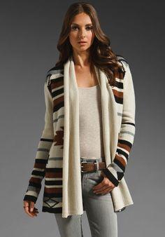 Love this sweater! looks super cozy....Stylish Camping Gear: BB Dakota Maya Lariat Cardigan