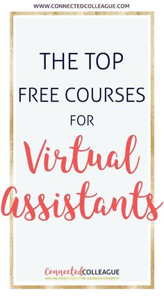 Check out our list of The Best Free E-Courses and Professional E-Courses for Virtual Assistants. Up your Social Media Game for your Virtual Assistant Business and for your Clients! Business Tips, Online Business, Business Opportunities, Interview Questions To Ask, Social Media Games, Virtual Assistant Services, Virtual Administrative Assistant, Thing 1, Online Jobs