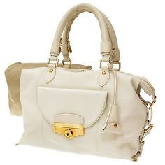 Auth-Louis-Vuitton-Handbag-Limited-Edition-for-VIP-White-Leather-Used-GR-1502008
