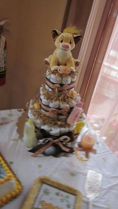 lion king diaper cake my diaper cakes pinterest lion