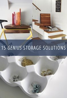 15 unique storage solutions. Some are quite clever