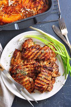 Тыква запеченная - ЗынгатА (Zıngata) зимняя. Тыква запеченная по-турецкому рецепту из Эгейской кухни. Такую тыкву хорошо подавать с йогуртово-чесночным соусом. Запеченная тыква – отличный гарнир для птицы и рыбы. Кстати, Зынгату летнюю из цуккини я уже приносила. Подавала эту тыкву, в… Tasty, Yummy Food, Chicken Thighs, Tandoori Chicken, Recipies, Food And Drink, Cooking Recipes, Pumpkin, Favorite Recipes
