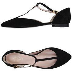 Savoy Ballet Flats ($50) ❤ liked on Polyvore featuring shoes, flats, black, ankle strap ballet flats, leather ballet flats, black shoes, ankle strap flats and flat shoes