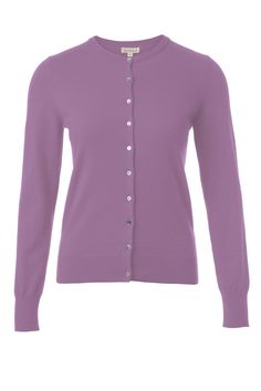 cotton cashmere cardi in Lavender