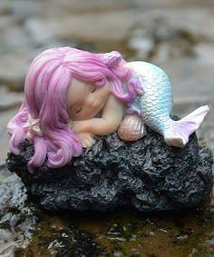 Top Collection Sleeping Mermaid & Rock Figurine | zulily