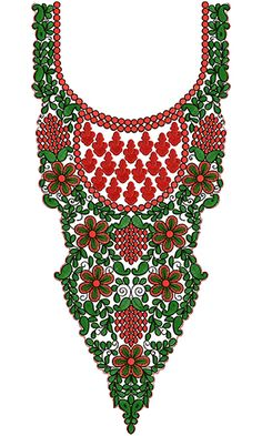 Creative Patterns Neck Embroidery Design 12523