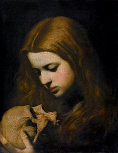 Maria Magdalena in Meditazione, 1650's by Jose Jusepe de Ribera
