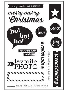 Christmas Stamp - Exclusive :: Stamps :: Elle's Studio Tags :: Elle's Studio