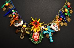 Frida Kaho Day of the Dead Dia de los Muertos by NixxiRose on Etsy