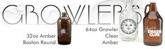 Growlers are refillable and reusable bottles so customers can bring home their favorite craft brews right from the tap. You can advertise your restaurant or microbrew right on the glass!  Contact: erin@ westshoreassociates.com