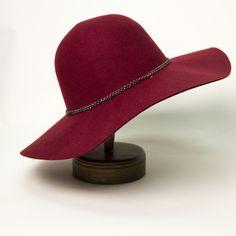 The Haylee Floppy Felt Hat - Nectar Clothing #maroon #floppyhat #fallstyle